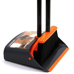 TreeLen Dust Pan and Broom/Dustpan Cleans Broom Combo with 5