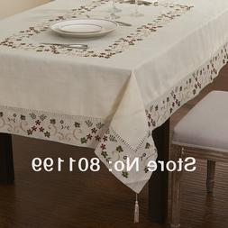 Embroidered Classical Linen <font><b>Table</b></font> cloth,