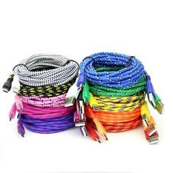 Extra Long  Fiber Cloth Sync & Charge USB Android Cable Asso