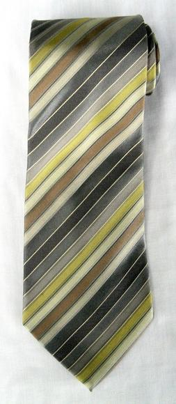 Calvin Klein Extra Long 100% silk striped tie