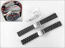 Extra Long 20mm & 22mm Watch Band Strap for Men with Large B