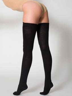 """Extra Long 32"""" Solid White Thigh High Socks Over Knee OTK"""