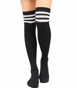 """Extra Long 32"""" Striped Thigh High Socks Over The Knee OTK"""