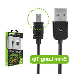 Cellet Extra Long 8mm Tip Micro USB Charging & Data Sync Cab