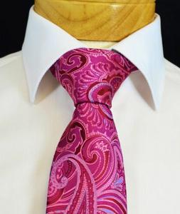 Extra Long Pink and Blue Paisley Men's Tie