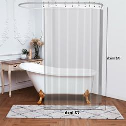 Extra Long and Heavy 12 Gauge PEVA Non-Toxic Shower Curtain