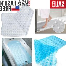 Extra Long Bath Mat Non Slip Anti Skid Rubber Shower Tub Saf