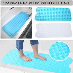 Extra Long Bath Tub Mat Non Slip Bathroom Shower Blue Bathtu