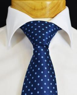 Extra Long Blue on Blue Polka Dots Men's Tie