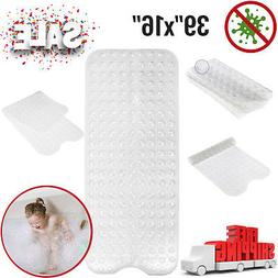 Extra Long Clear Bath Mat Non Slip Anti Skid Rubber Shower T