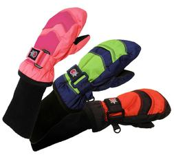 SnowStoppers Extra-Long Cuff 2-Tone Nylon Mittens for Ages 6