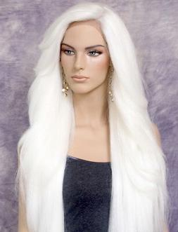 Extra Long Human Hair blend Heat OK Full Lace Front Wig WBPC