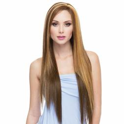 Extra Long Heat Resistant Synthetic Lace Front Wig Sepia LF