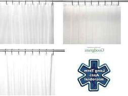 Extra Long Heavy Duty Vinyl Shower Curtain Liners - Assorted