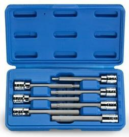 "Extra Long Hex Bit 16 PC Set | 3/8"" Drive Allen Socket Combo"