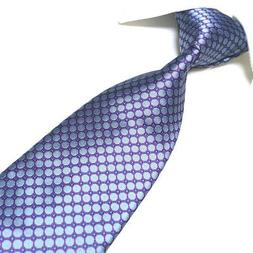 Extra Long Microfibre Necktie Purple Classic Woven Polyester
