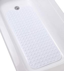 "Extra-Long Non-Slip Bathtub Mat 39""x16"" Washable Anti-Sl"