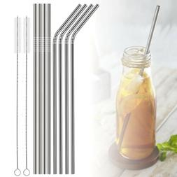 Extra LONG Non-Toxic 8PCS Stainless Steel Straws for Drinkin