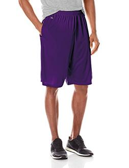 Soffe Men's Extra Long Polyester Closed Hole Mesh Short Purp