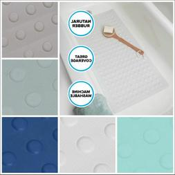 Extra Long Rubber Bath Safety Mat: White, Blue or Tan In-Tub