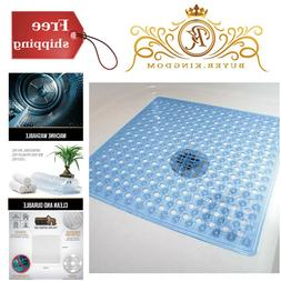"Bath Mat Non Slip Bathtub Shower Mat Blue Runner Rug 21"" x 2"