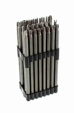 "ABN Extra-Long Security Bit 32-Piece Set, 6"" inch Shank, 1/4"