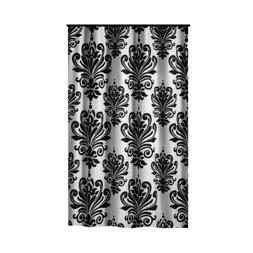 Extra Long Shower Curtain 72 x 78 Inch Gamma Black And White
