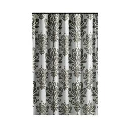Extra Long Shower Curtain 72 x 78 Inch Gamma Gray And White