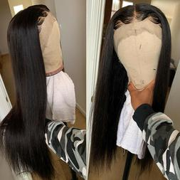 Extra Long Straight Remy Human Hair Wig Full Lace Front Wigs
