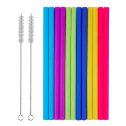 Extra Long Straws Reusable Silicone Wide Jumbo Flexible Drin