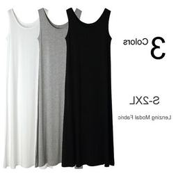 Extra Long Stretchy Layer Cami Tank Top Bandage Fitted Basic