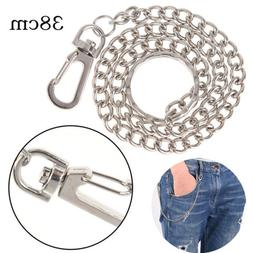 Extra Long Strong Metal hipster Key Wallet Belt Ring Clip Ch