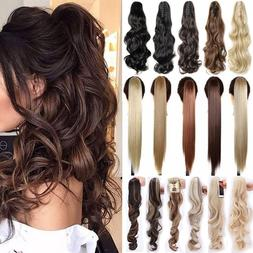 Extra Long Thick Claw Clip in on Ponytail Hair Extensions Br