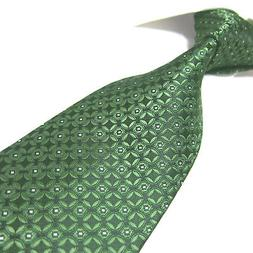 extra long tie green geometric xl microfibre