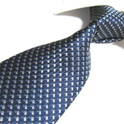 Extra Long Tie Microfibre Geometric Woven Jacquard Polyester