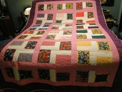 Handmade, Extra Long, Twin, Adult, Youth, Quilt, Multi-Color