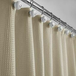 """mDesign EXTRA LONG Waffle Weave Fabric Shower Curtain - 72"""""""