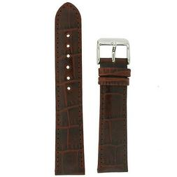 Extra Long Watch Band Brown Genuine Leather Strap Alligator