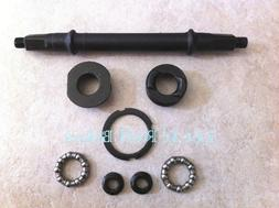 """EXTRA WIDE Bottom Bracket Set 7-5/8"""" long Axle for 26"""" x 4.0"""