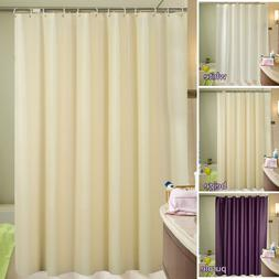 Fabric Shower Curtain Plain White Extra Wide Extra Long Stan