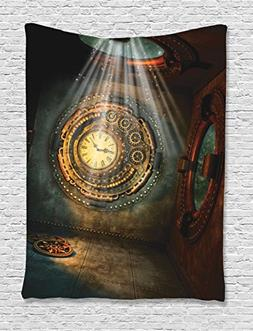 Fantasy House Decor Tapestry Wall Hanging By Ambesonne, Fant