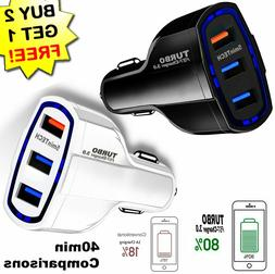 Fast Quick CAR ChargerUSB  for Android or iPhone