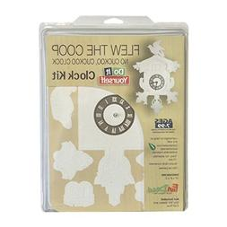 FunDeco FD1001 No Cuckoo Clock Craft Kit, White