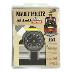 FunDeco FD1002 Steam Train Clock Craft Kit, Multicolored