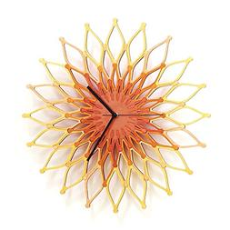 Fireworks II - Large Stylish Wooden Wall Clock, Sunburst Clo