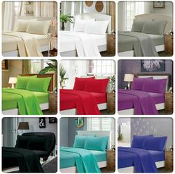 Flat Sheet 1900 Count Wrinkle Free Soft Solid Bed Top Sheets