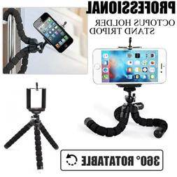 Flexible Octopus Tripod Bracket Stand With Clip Holder Mount