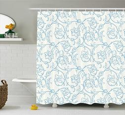 Ambesonne Floral Shower Curtain, Flower Orchids Bohemian Sty