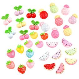 33 Pack Fruits Slime Charms Watermelon Strawberry Cherry Pin