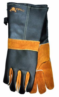 G & F 15' Extra Long Premium Cowhide Leather BBQ and Firepla